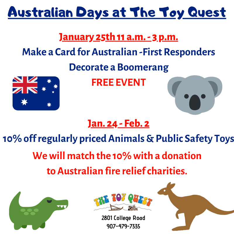 Australian Days at The Toy Quest